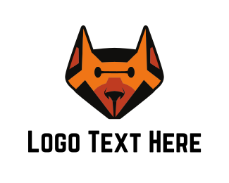 Robotics - Orange Robot Dog logo design