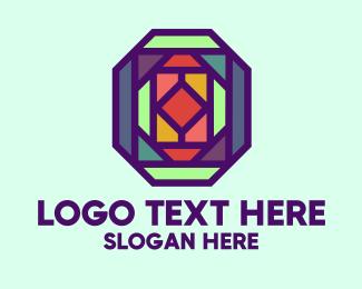 Ruby - Colorful Kaleidoscope  logo design