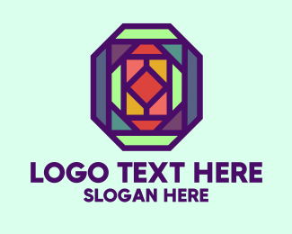 Gem Stone - Colorful Kaleidoscope  logo design