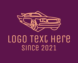 Auto Garage - Minimalist Vintage Car logo design