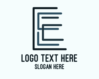 Technician - Abstract E Pattern logo design
