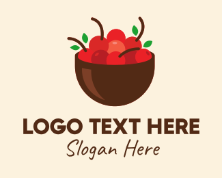 Farmers Market - Fresh Fruit Bowl logo design