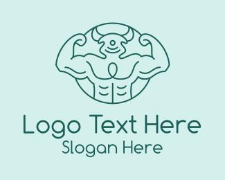 Strong - Strong Bull Gym Fitness logo design