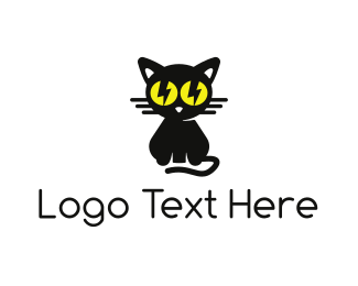 Lightning - Bolt Cat logo design
