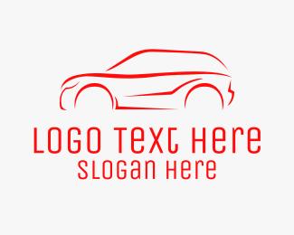 Auto Detailer - Red SUV Vehicle  logo design