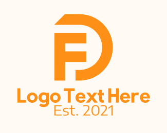"""Orange Initial Lettermark "" by RistaDesign"