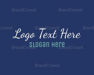 Conservative - Blue Cool Text logo design