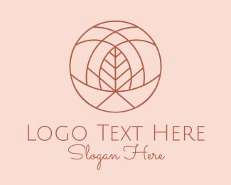 Simplistic - Botanical Organic Beauty Circle logo design