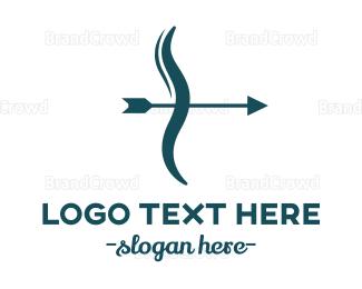 Archer - Blue Bow  logo design