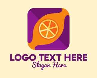 Online Market - Orange Fruit Mobile App  logo design