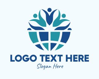 Earth - Blue Earth Community logo design
