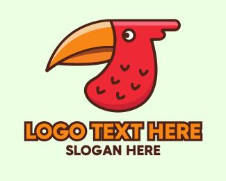 Macaw - Red Wild Toucan logo design