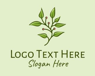 Irrigation - Berry Plant Seedling  logo design