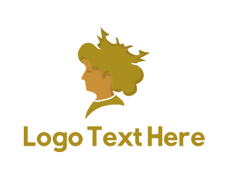 Tiara - Blonde Queen  logo design