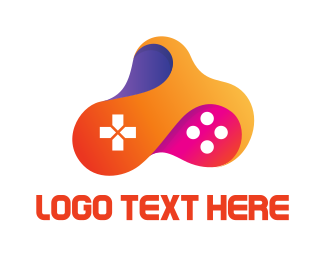 Game Community - Multicolored Fluid Controller logo design