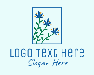 Flowers - Blooming Garden Flowers  logo design