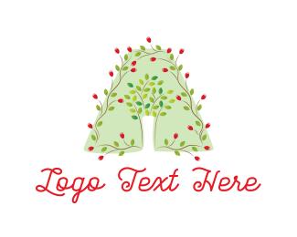 Initial - Floral Letter A logo design
