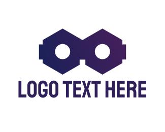 Vr - Cube VR logo design