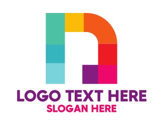 Letter N - Multicolor Letter N logo design