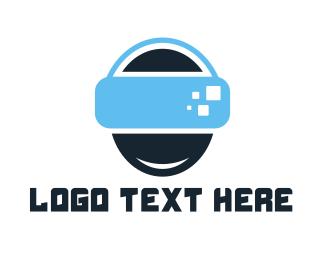 Virtual Reality - Abstract VR Head logo design