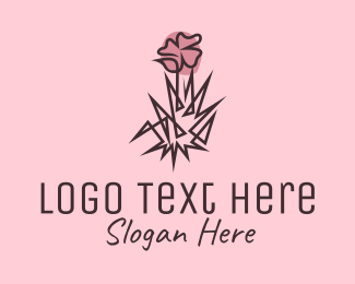 Organic Product - Wildflower Line Art  logo design