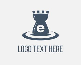 Lettermark - E Castle Water logo design