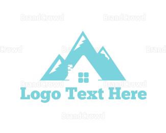 Aspen - Mountain House logo design