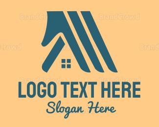 Blue And Gray - Hands & Houses logo design