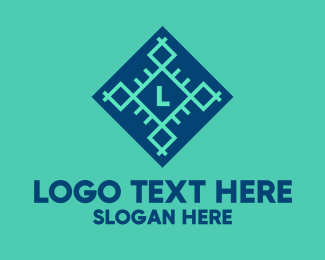 Nordic - Geometric Snowflake Lettermark logo design