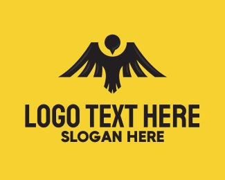 Eagle - Mountain Bird Emblem logo design