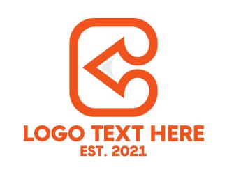 Business Solutions - Orange Arrow C logo design