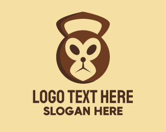 Dumbbells - Monkey Kettlebell Gym  logo design