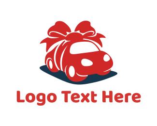 Bow - Gift Car logo design