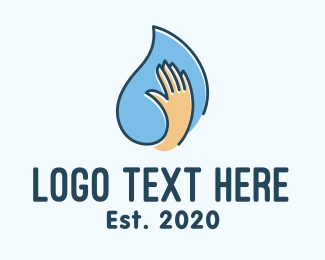Clean Hands - Hand Sanitizing Liquid logo design