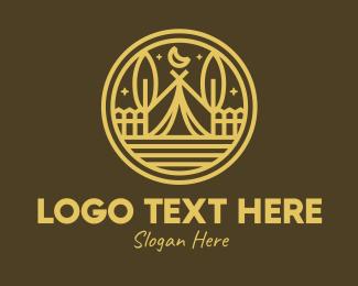 Teepee - Rustic Brown Campsite logo design