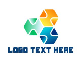 Digital Marketing - Digital Cubes logo design