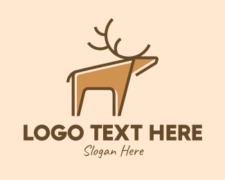 Hunting - Wild Deer logo design