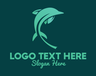 Marine Biology - Nature Dolphin  logo design
