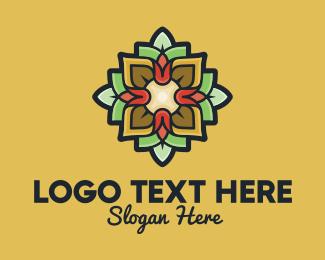 Intimate - Floral Lantern Decoration logo design