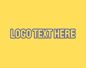 Blue And Yellow - Yellow & Blue Outline Font logo design