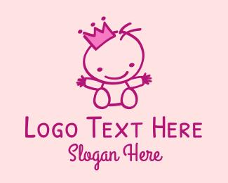 Baby - Pink Baby Princess logo design