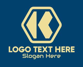 Telco - Hexagon Tech Letter K  logo design