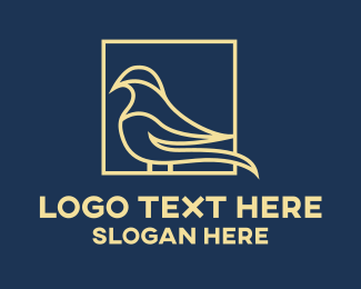 Gold Bird - Professional Bird logo design