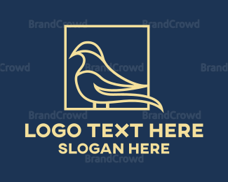 Bird - Golden Bird logo design