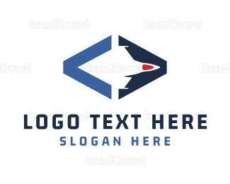 Html - Blue Jet logo design