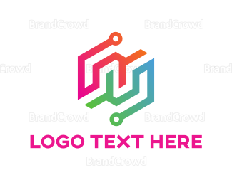 Electrical Energy - Colorful Circuits logo design