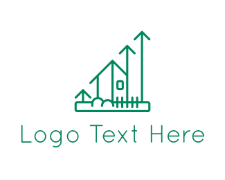 Residence - Green House Increase logo design