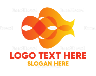 Burn - Orange Flames logo design