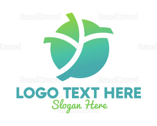 Agricultural - Abstract Gradient Leaves logo design