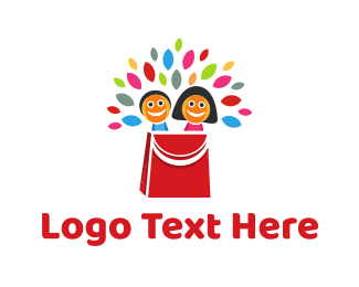 Shopping Bag - Doll Bag  logo design
